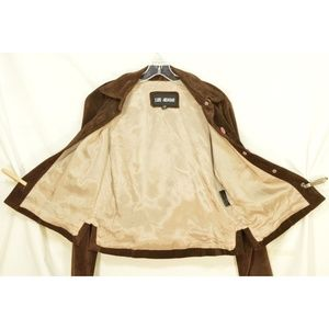 Luis Alvear Jackets & Coats - Luis Alvear jacket SZ M suede leather brown button